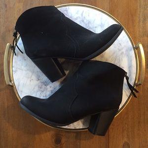 MERONA Black Cowboy Ankle Heeled Booties 9